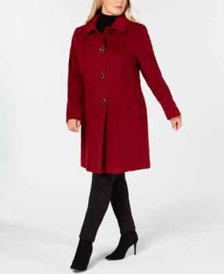 Plus Size Single-Breasted Coat