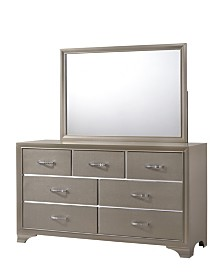 Logan Mirror Only in Champagne Finish
