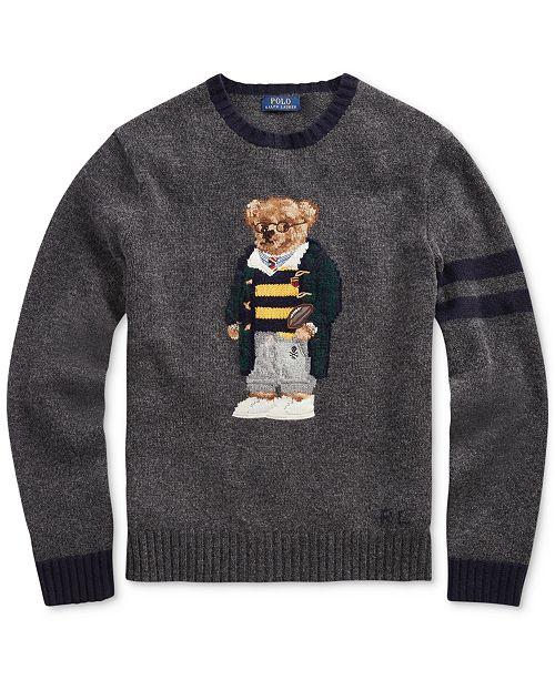 72afb914fd2e Polo Ralph Lauren Men s Polo Bear Sweater   Reviews - Sweaters - Men ...