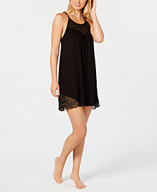 I.N.C. Sheer Lace Knit Chemise, Created for Macy's