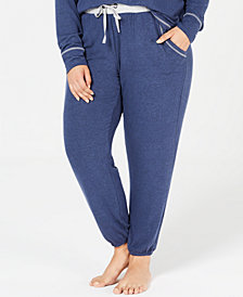 Alfani Plus Size Brushed Hacci Knit Pajama Pants, Created for Macy's