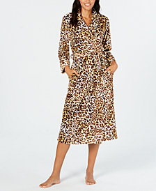Charter Club Long Floral Wrap Robe, Created for Macy's