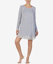 Layla Printed Solid-Hem Sleepshirt