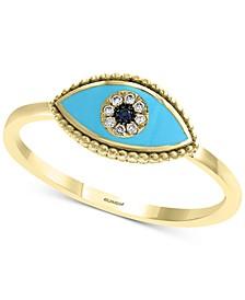 EFFY® Sapphire & Diamond Accent Evil Eye Ring in 14k Gold