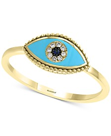 EFFY® Sapphire & Diamond Accent Evil Eye Ring in 14k Gold