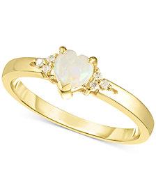 Opal (1/4 ct. t.w.) & Diamond Accent Ring