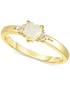 Opal (1/4 ct. t.w.) & Diamond Accent Ring