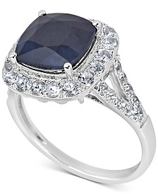 Sapphire (3 ct. t.w.) & White Sapphire (1/3 ct. t.w.) Ring in Sterling Silver