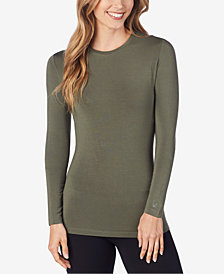 Cuddl Duds Women's  Softwear Stretch Long Sleeve Crew Shirt