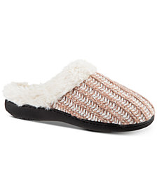 Isotoner Signature Women's Sweater-Knit Hoodback Slippers
