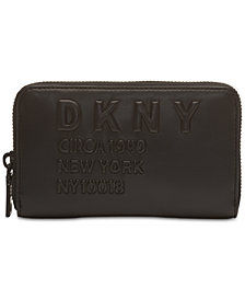 DKNY 10018  Logo Zip Around Wallet, Created for Macy's
