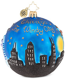 Christopher Radko Chi Town Christmas Ornament