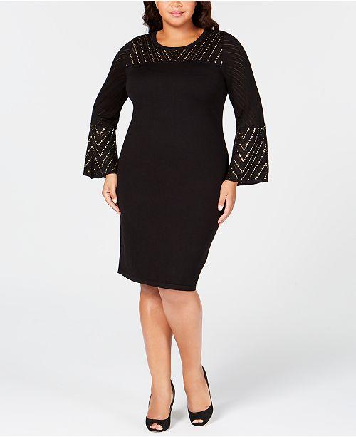 Calvin Klein Plus Size Studded Sweater Dress & Reviews ...