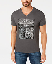 Kenneth Cole Men's V-Neck Graphic T-Shirt