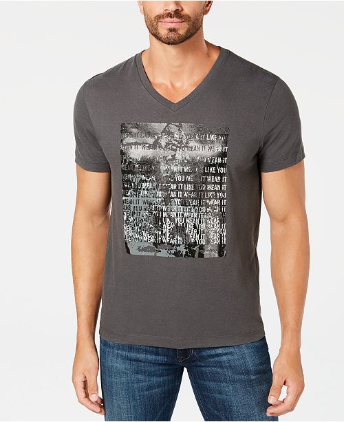 508fa2c78a Kenneth Cole New York Kenneth Cole Men s V-Neck Graphic T-Shirt ...