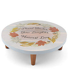 Thirstystone Plant, Grow, Harvest Footed Serving Board