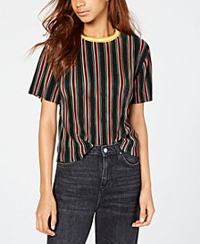 Gypsies & Moondust Juniors' Striped Bodre Top