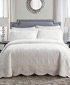 Westland 3-Pc. Full Plush Bedspread Set