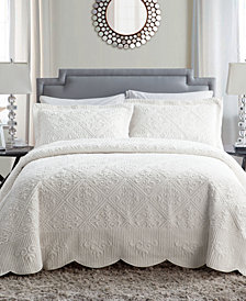 VCNY Home Westland 3-Pc. Full Plush Bedspread Set