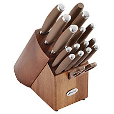 Anolon SureGrip 17-Pc. Japanese Stainless Steel Cutlery Set