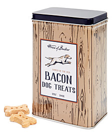 House of Barker Dog Treats Dark Wood Tin