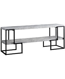 "Monarch Specialties Cement 60""L Tv Stand in Black Metal"