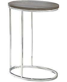 Accent Table - Oval With Chrome Metal