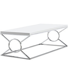 Coffee Table - With Chrome Metal