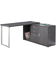 Monarch Specialties 60'L L/R Facing Computer Desk in Grey