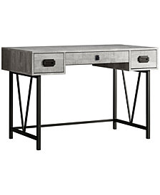 "Monarch Specialties Wood Grain 49""L Computer Desk in Grey"