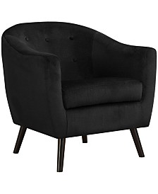 Monarch Specialties Accent Chair - Black Mosaic Velvet