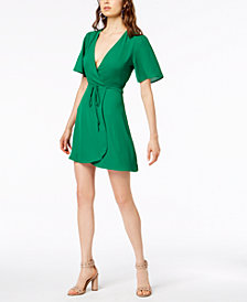 Socialite Short-Sleeve Wrap Dress