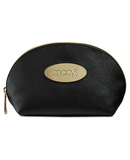 Macy's Crosshatch Patterned Cosmetic Bag