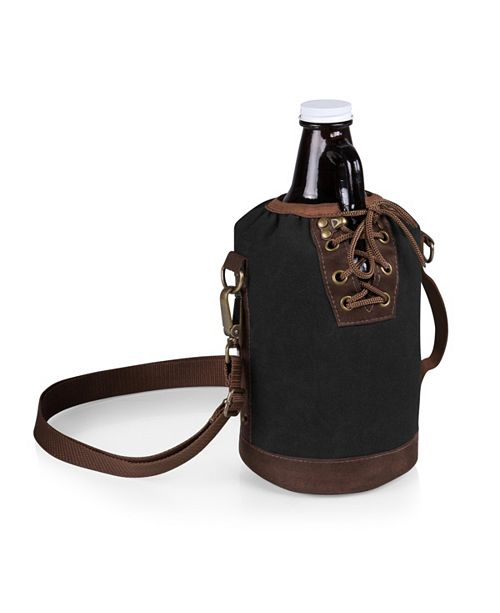 Picnic Time Legacy® by Insulated Growler Tote with 64-oz. Glass Growler