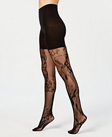 SPANX® Fishnet Floral Mid-thigh Shaping Tights