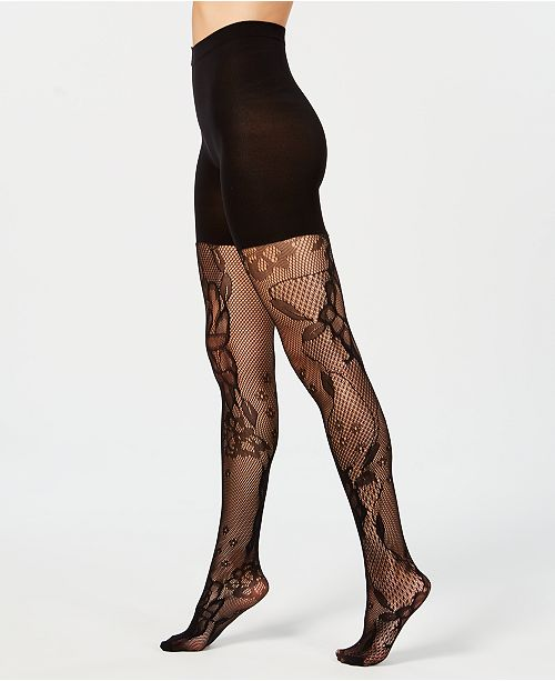 fd9776d3991d9 SPANX Fishnet Floral Mid-thigh Shaping Tights   Reviews - Handbags ...