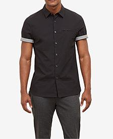 Kenneth Cole  Men's Contrast Trim Shirt