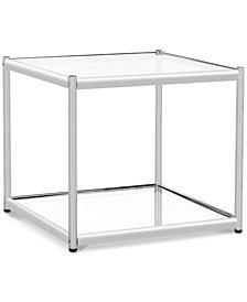 Lilias Glass End Table, Quick Ship