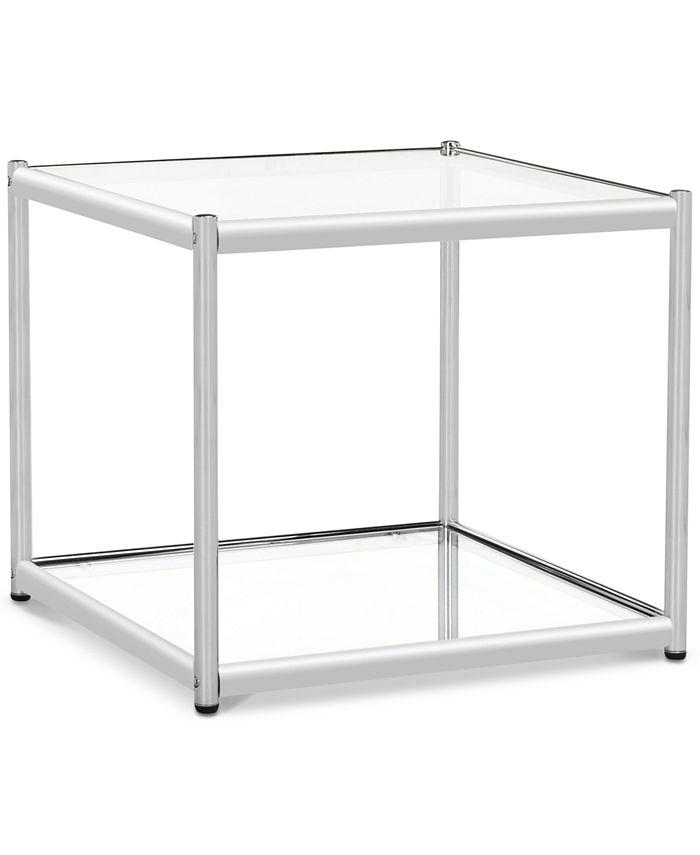 Safavieh - Lilias Glass End Table, Quick Ship