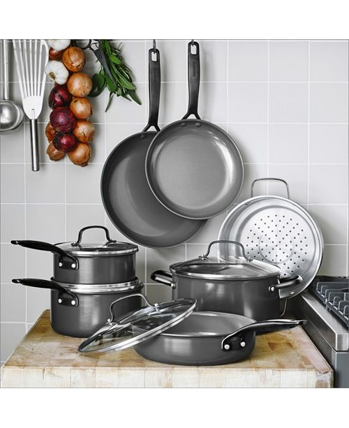 New York Pro 11 Pc Ceramic Non Stick Cookware Set Created For Macy S