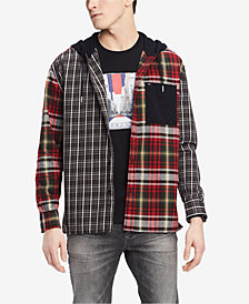 Tommy Hilfiger Men's Oversized Pattern-Blocked Hoodie, Created for Macy's