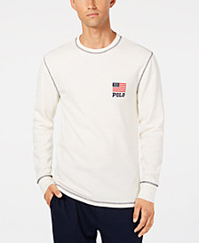Polo Ralph Lauren Men's Waffle-Knit Thermal with Flag Logo