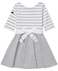 Polo Ralph Lauren Little Girls Striped Jersey-Ponté Knit Dress