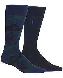 Polo Ralph Lauren Men's Big & Tall 2-Pk. Camo Dress Socks
