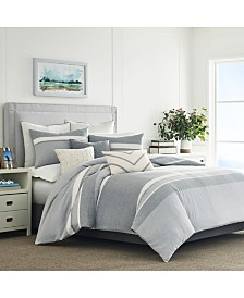 Nautica Clearview 3-Pc. Gray Full/Queen Comforter Set
