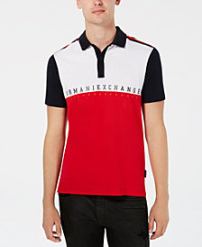 A|X Armani Exchange Men's Colorblocked Logo Polo, Created for Macy's