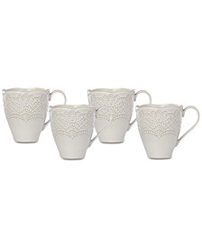 Lenox Chelse Muse Scallop Mugs, Set of 4