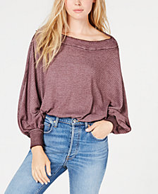 Free People Willow Off-The-Shoulder Thermal Top