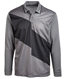 Attack Life by Greg Norman Men's Powell Colorblocked Long-Sleeve Polo, Created for Macy's