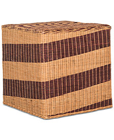 Tygo Wicker End Table, Quick Ship